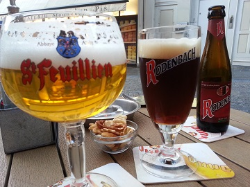 Belgian Beers in Brussels at Manneken Pis Statue