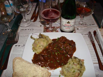 Carbonade and Kriek Lambic