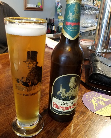 Leipzig Ritterguts Gose Bottle and Glass