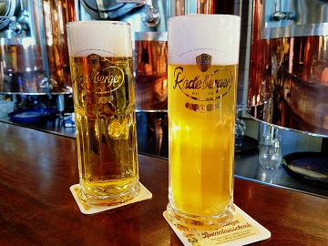 Radeberger Pilsner and Kellerbier